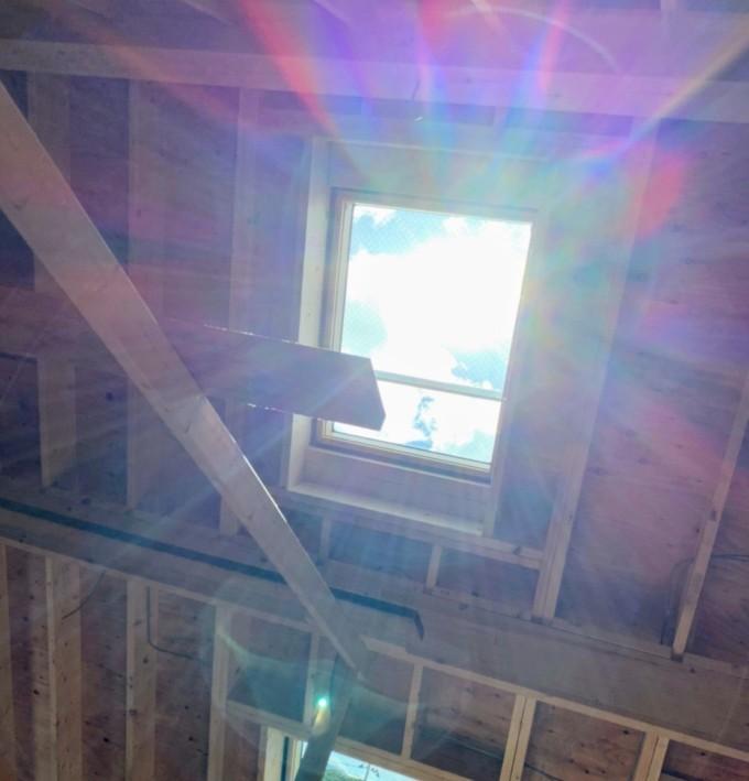カントリーログの天窓